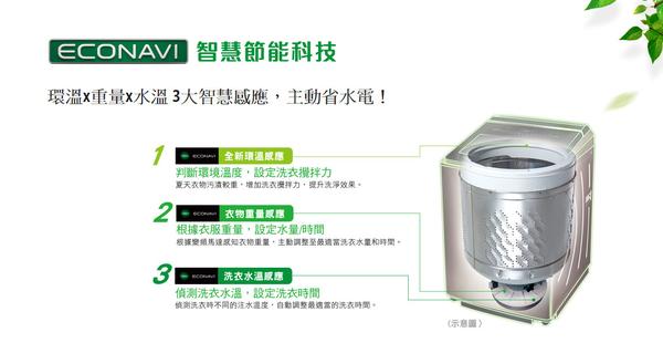 【Panasonic國際】11公斤 直立式變頻洗衣機 NA-V110EB-PN 免運費