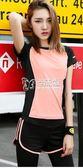 瑜珈服套裝 兩件套速乾短袖上衣瑜珈跑步短褲顯瘦健身服 卡菲婭
