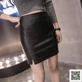 皮裙 皮裙女秋冬新款韓版高腰半身裙修身性感包臀裙一步裙子短款潮 雙12狂歡