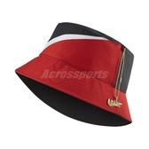 Nike 帽子 NSW Bucket Swoosh Cap 黑 紅 女款 漁夫帽 雙面設計 【PUMP306】 CI3616-011