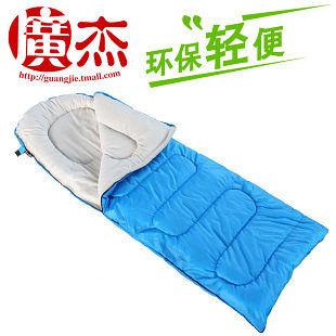 戶外睡袋 信封 單人 加長帶帽 防水面料
