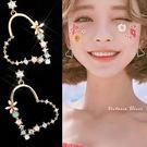 925純銀針  韓國優雅氣質  愛心花朵...