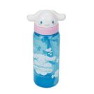 Sanrio 大耳狗造型頭掀蓋吸管水壺 500ml 藍_RD00168