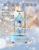 旋轉木馬音樂盒ins超火的生日禮物女生文藝小清新圣誕節八音盒LZ2122【野之旅】