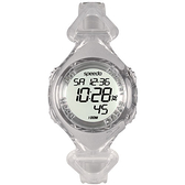 Speedo 奔躍世界電子腕錶-透明