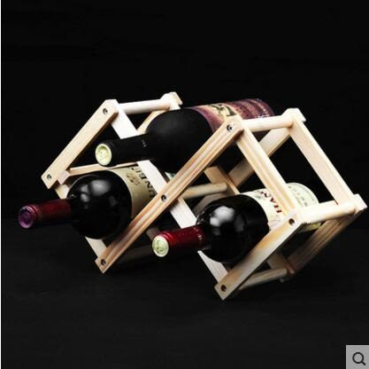實木質創意折疊紅酒架 家居葡萄酒架