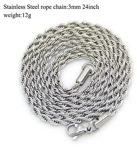 【NF234不銹鋼麻花項鍊】不銹鋼麻花鏈3mm 真空電鍍 嘻哈項鍊 鑰匙鍊條 皮夾鍊條
