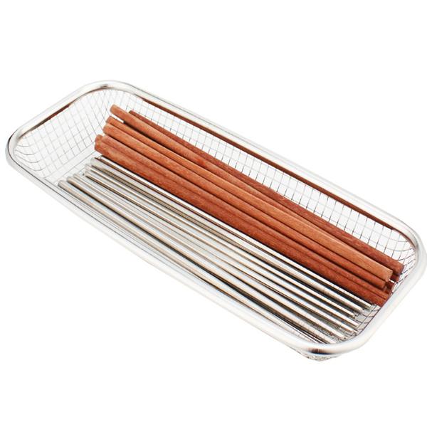 現貨 快速出貨【小麥購物】0不鏽鋼餐具籃 收納盒 筷籠 筷子架 餐具置物籃 筷架【G229】