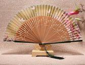 日式扇子摺扇中國風女式手繪摺扇古風古典夏季摺疊扇子舞蹈扇 祕密盒子