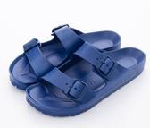 AIRWALK 男女款戶外休閒涼拖鞋 深藍-NO.A755220183