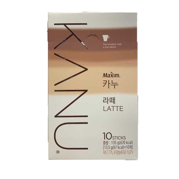韓國 KANU 拿鐵咖啡 漸層包裝 孔劉代言 拿鐵 即溶咖啡 咖啡包 鬼怪 13.5g*10入【庫奇小舖】