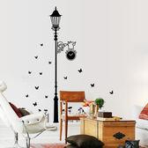 創意無痕壁貼 黑色路燈【YV6330】快樂生活網