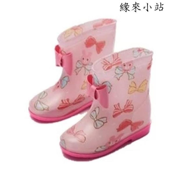 女童中小童防滑碎花卡通可愛雨鞋