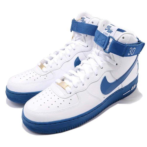 Nike Air Force 1 High Retro CT16 QS 亮皮 白 藍 Rasheed Wallace PE 男鞋 高筒 【PUMP306】 AQ4229-100