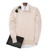 羊絨衫男士V領秋冬寬鬆大碼打底針織衫圓領加厚羊毛衫純色毛衣男 9號潮人館