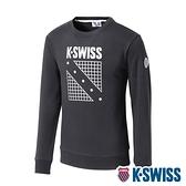 K-SWISS North Court Sweatshirt圓領長袖上衣-男-黑