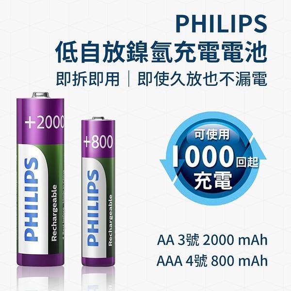 PHILIPS 低自放 鎳氫 充電電池 AA 3號電池 單顆入 2000mAh 即拆即用