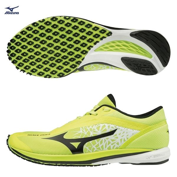 MIZUNO WAVE DUEL 男鞋 慢跑 路跑 全馬 馬拉松 輕量 耐磨 避震 螢光黃【運動世界】U1GD196002