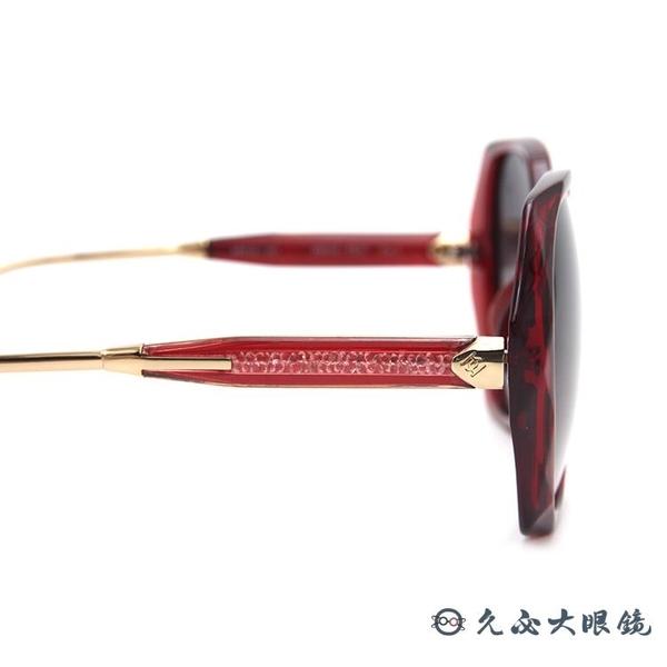 HELEN KELLER 林志玲代言 H8636 TR37 (透紅-玫瑰金) 偏光太陽眼鏡 久必大眼鏡