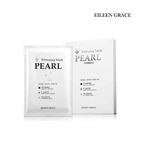 EILEEN GRACE 妍霓絲珍珠酒粕全效淨白隱形面膜5入裝