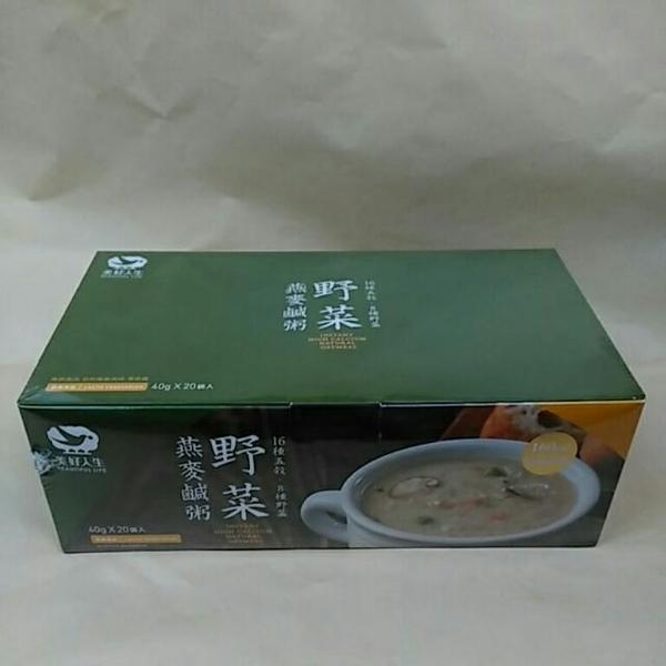 美好人生 野菜燕麥鹹粥 20包/盒 買一送一  奶素