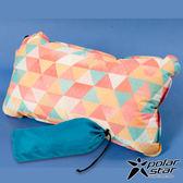 【PolarStar】花漾自動充氣枕 充氣枕頭靠枕護頸枕午睡枕旅行枕飛機枕靠腰枕- P17737 『三角』