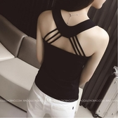 背心/小可愛 小吊帶背心女夏外穿胖MM莫代爾短款性感打底吊帶內搭漏背短款背心