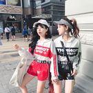 VK精品服飾 韓國學院風休閒百搭字母時尚套裝長袖褲裝