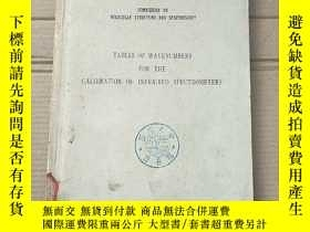 二手書博民逛書店tables罕見of wavenumbers for the calibration of infra-red s
