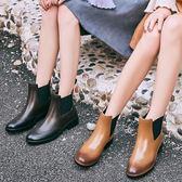 韓版時尚雨鞋女雨靴成人短筒夏季防滑切爾西鬆緊低幫水鞋女士膠鞋 盯目家