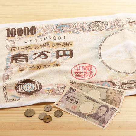 日本毛巾 : 財神到_一萬元 33*80 cm (長毛巾 -- taoru 日本毛巾)