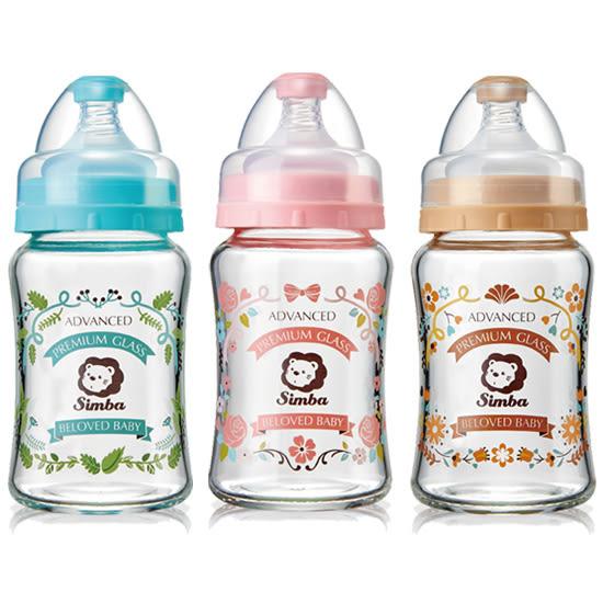 小獅王辛巴 Simba 蘿蔓晶鑽寬口葫蘆玻璃小奶瓶180ml