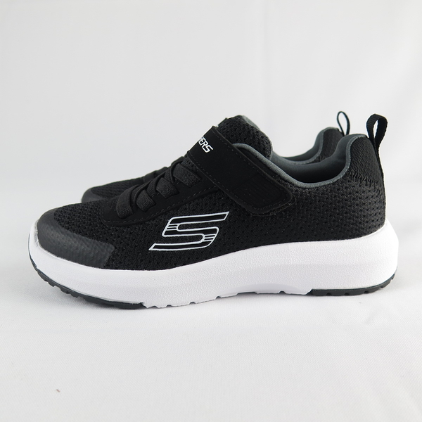 Skechers DYNAMIC TREAD 魔鬼氈 中童鞋 98151LBKW 黑【iSport愛運動】