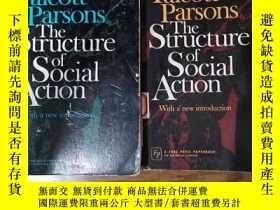 二手書博民逛書店The罕見Structure of Social Action(