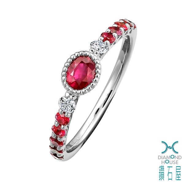 【鑽石屋】39分紅寶石戒指