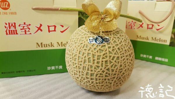 ♥((德記水果禮盒))♥日本靜崗品種台灣溫室哈密瓜