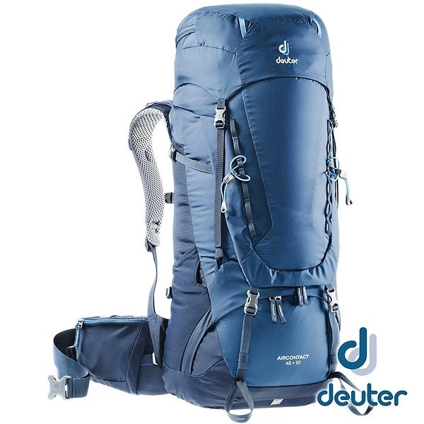 【德國 deuter】AIRCONTACT 拔熱透氣背包 45+10L『藍』3320119 大背包 背包客 渡假打工