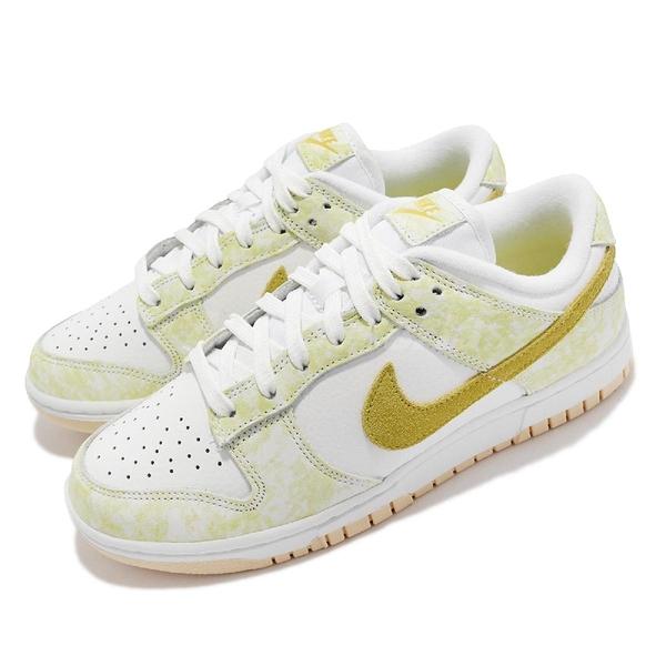 Nike 休閒鞋 Wmns Dunk Low OG 白 黃 Yellow Strike 女鞋 【ACS】 DM9467-700