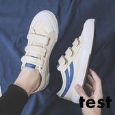 春季帆布鞋男韓版潮流低筒百搭2019新款小白男鞋魔術貼休閒板鞋子 LOLITA