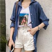 DE SHOP~(XA-5622)寬鬆bf襯衫女長袖襯衣雪紡開衫防曬外套