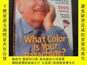二手書博民逛書店what罕見color is your parachute?許多