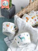 飯碗可愛創意個性陶瓷湯碗吃飯小碗韓式卡通兒童餐具學生家用迷你【中秋連假加碼,7折起】