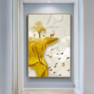 壁畫新中式走廊過道裝飾畫入戶玄關畫豎版現代簡約壁畫招財風水掛畫【快速出貨】