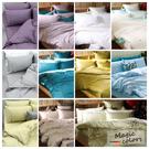 《60支紗》雙人床包兩用被套四件式【共11色】Magic colors 100%精梳棉-麗塔寢飾-