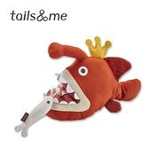 尾巴與我海洋動物寵物玩具啃咬抱抱組燈籠魚
