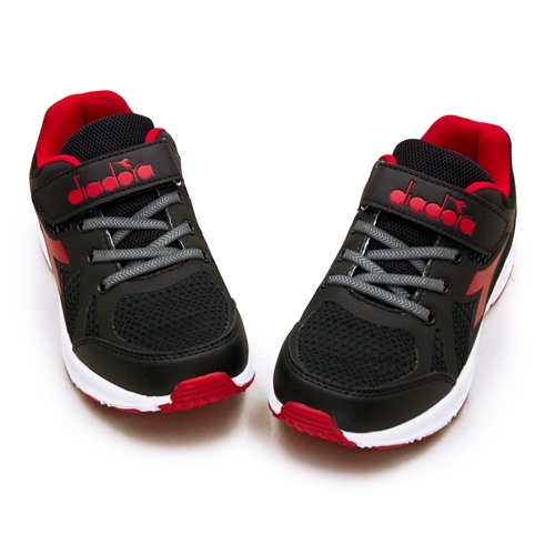 LIKA夢 DIADORA 迪亞多那 22cm-24.5cm 輕量3E寬楦慢跑鞋 終極速跑系列 黑紅 13000 大童