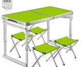 折疊桌擺攤桌便攜式簡易鋁合金家用餐桌地攤展業桌子戶外折疊桌椅 野外之家igo