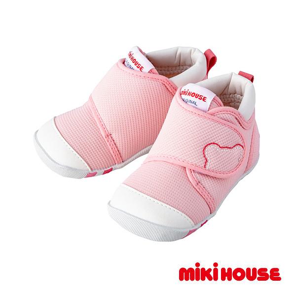 MIKI HOUSE 獲獎鞋 學步鞋 第一階段(粉)