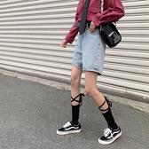 小腿襪jk綁腿薄款系帶綁帶襪子女交叉中筒襪日系【愛物及屋】