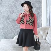 ★韓美姬★中大尺碼~領口綁帶雪紡長袖襯衫上衣(XL~4XL)